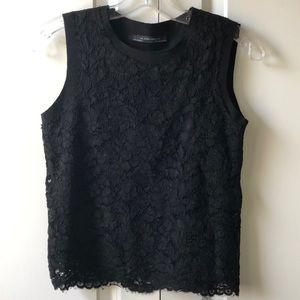 Like new Zara Black Lace Cropped Tank top size S
